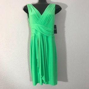 American Living NWT Green V-Neck Dress Size 6